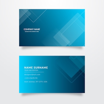 Collection of abstract business cards