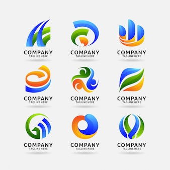 Collection of abstract business logo