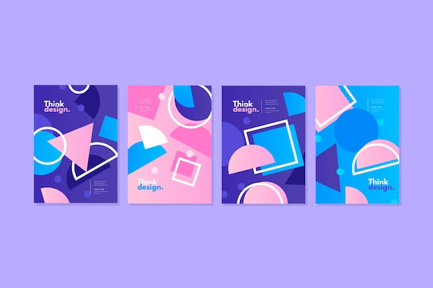 Collection of abstract colorful covers