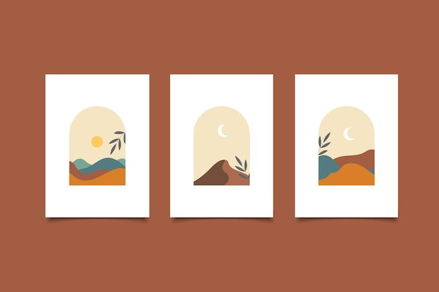 컬렉션 추상 표지 풍경