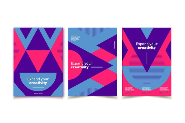 Collection of abstract covers
