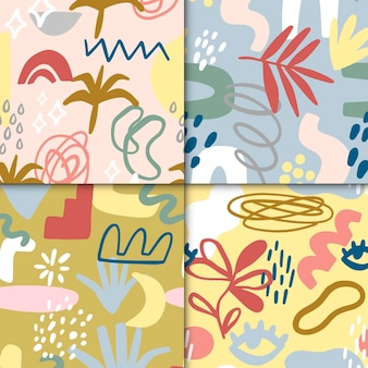 Collection of abstract drawn patterns