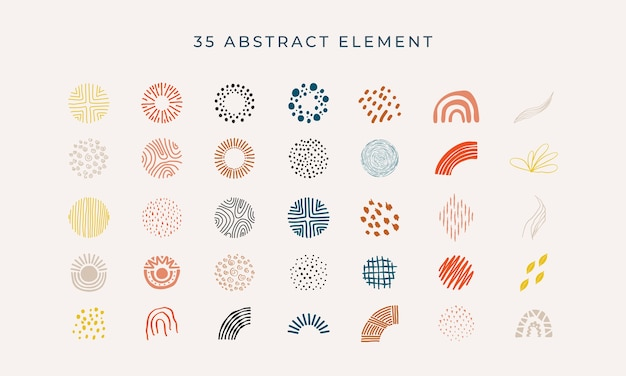 Collection of abstract elements