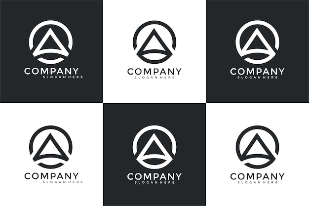 Collection abstract letter a logo design template