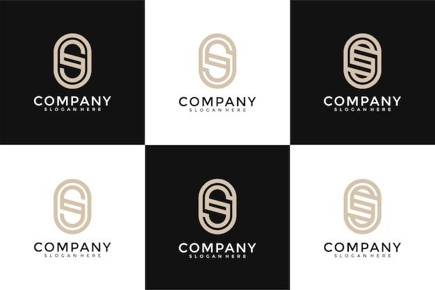 Коллекция абстрактных букв s логотип дизайн шаблона