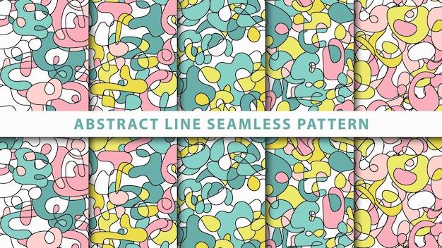 Коллекция абстрактных линий бесшовные модели