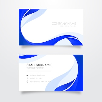 Collection of abstract monochromatic business cards