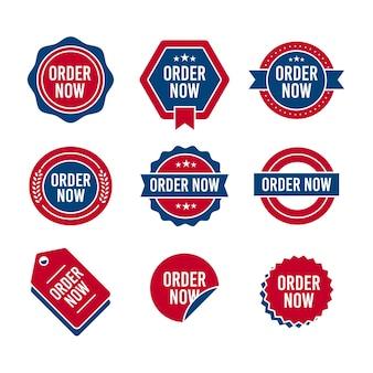 Raccolta di ordine astratto ora adesivi