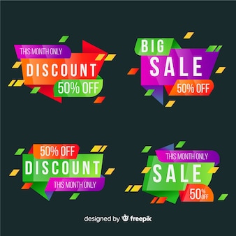 Collection of abstract sale banner for social media