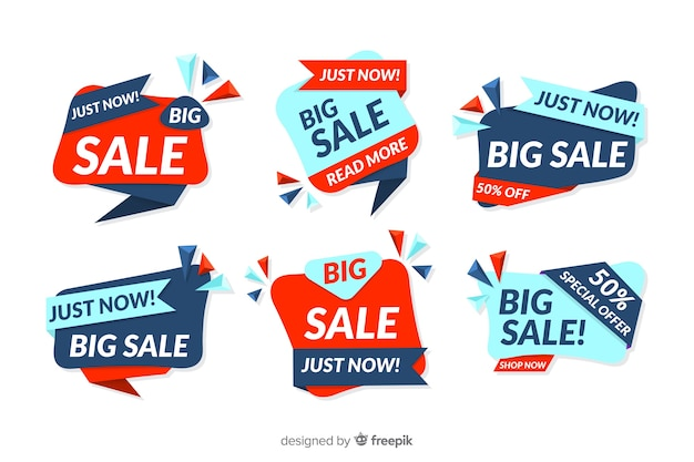 Collection of abstract sales banner design