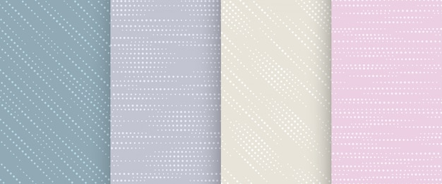 Collection of abstract seamless pattern in pastel colors.