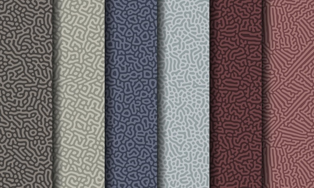 Collection of abstract seamless pattern