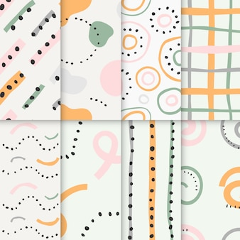 Collection of abstract seamless patterns
