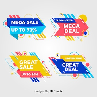 Collection of abstract special offer banners