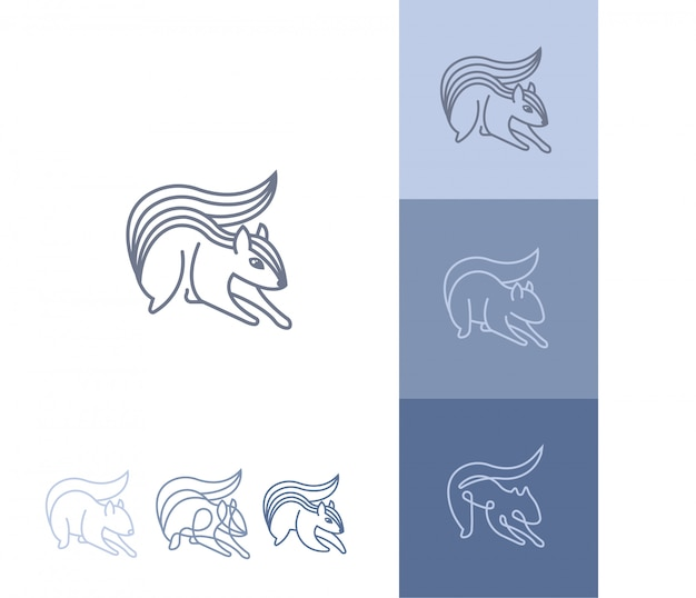 Collection of abstract squirrel logos