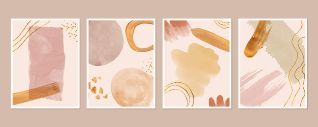 Collection of abstract watercolor covers
