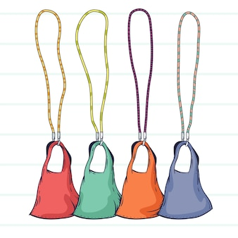 Collection of adjustable face mask lanyards