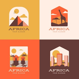 Collection of africa logo template