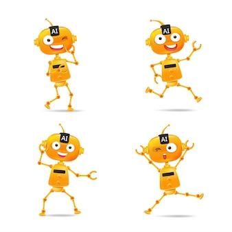 Collection of ai robot cartoon