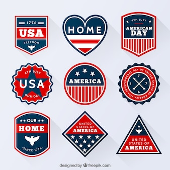 Collection of american badges