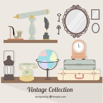 Collection of antique object