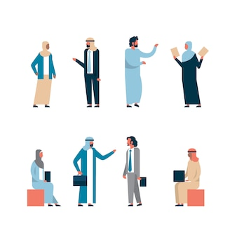 Collection of arabic business people
