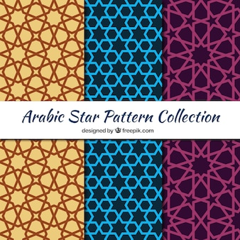 Collection of arabic patterns with stars