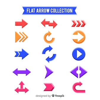 Collection of arrows in different colors