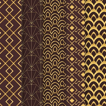 Collection of art deco pattern