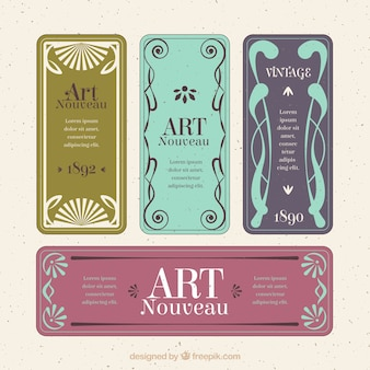 Collection of art nouveau label
