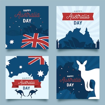 Collection of australia day greeting cards