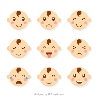 Collection of baby avatar