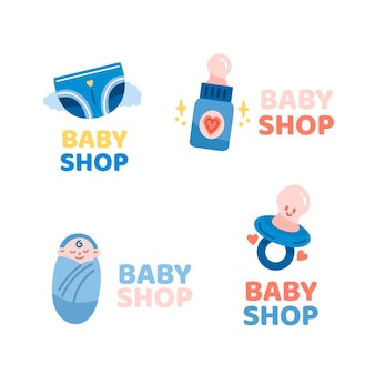 Collection of baby logo template