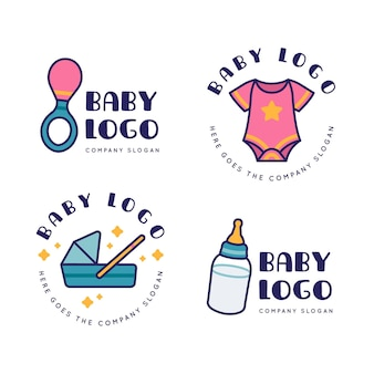 Collection of baby logo