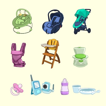 Collection of baby products