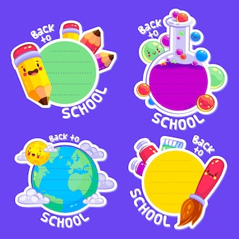Collection of back to school badges