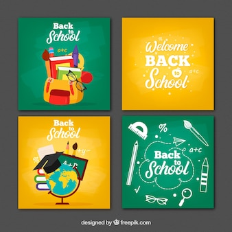 Collection of back to school cards