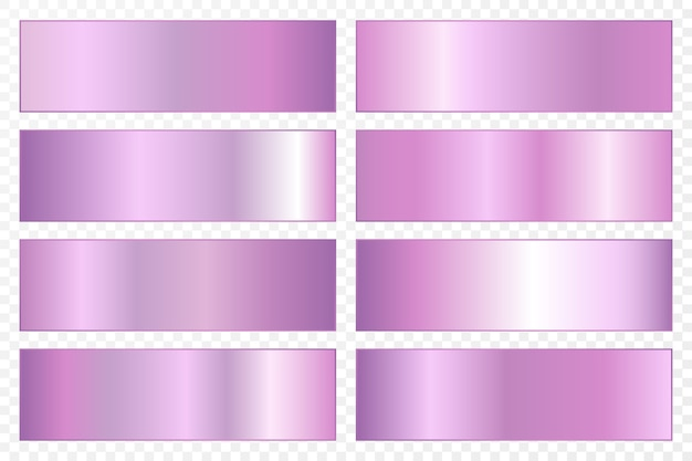 Collection of backgrounds with a metallic gradient. brilliant plates with ultraviolet effect.