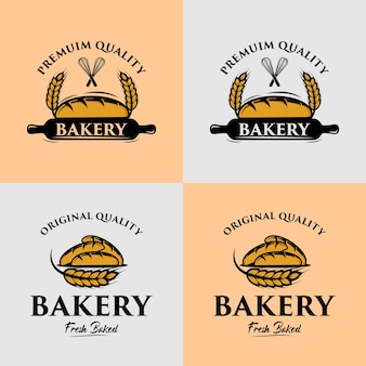 A collection of bakery logo design template