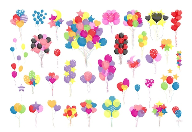 Collection of balloons