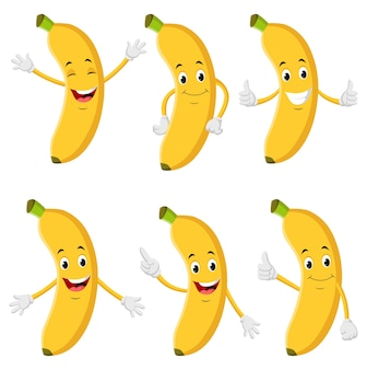 Collection of banana illustrations