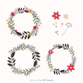Collection of beautiful christmas wreath