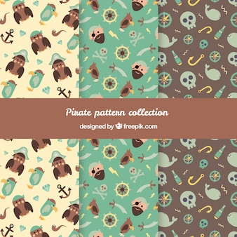 Collection of beautiful pirate pattern
