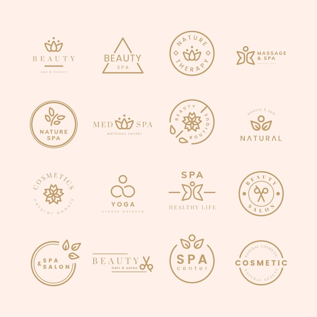 Collection of beauty and spa logos