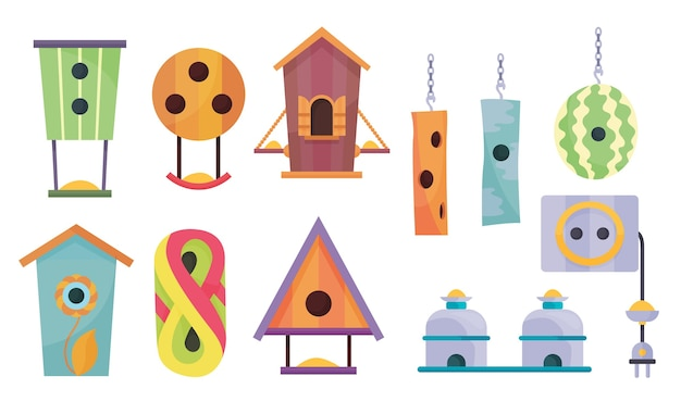 Collection of bird houses