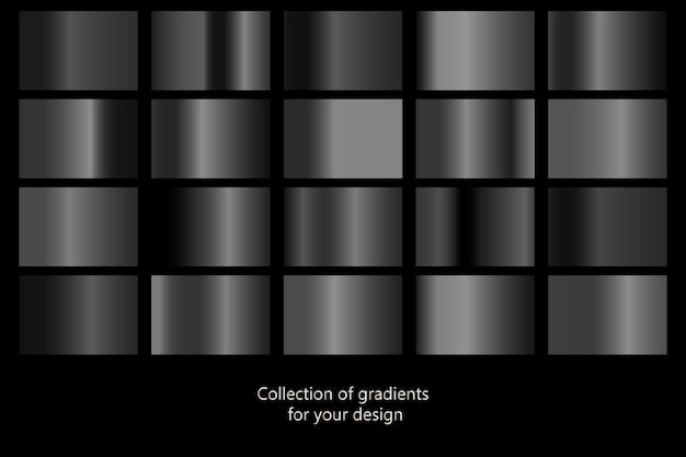 Collection of black gradient backgrounds.