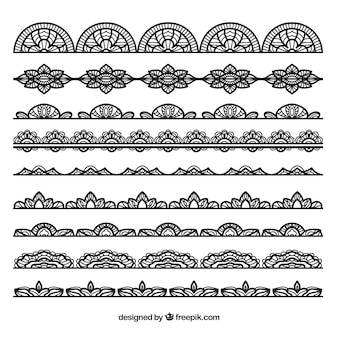 Collection of black lace border