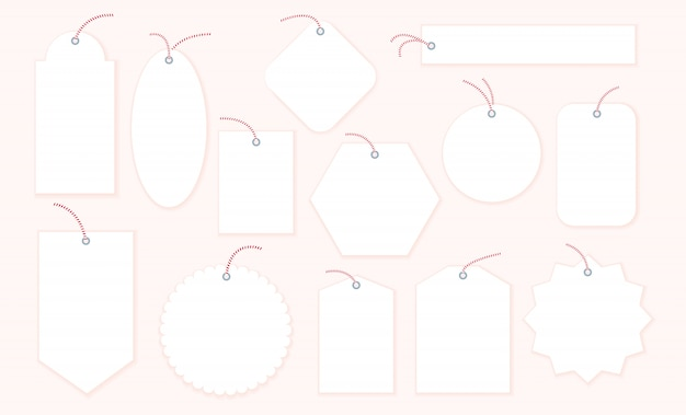 Collection of blank christmas gift tags