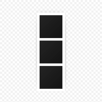 A collection of blank photo frames. empty framing for your design. vector template for picture, painting, poster, lettering or photo gallery. vector eps 10. isolated on transparent background.