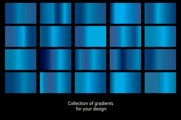 Collection of blue gradient backgrounds.